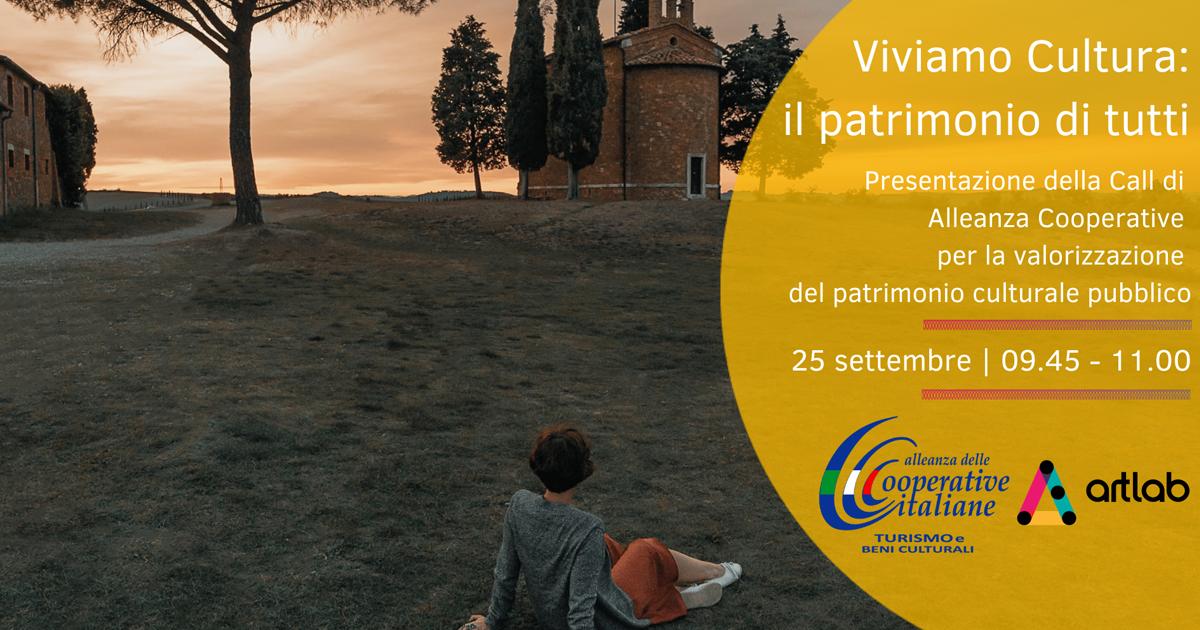 """ArtLab Bergamo 2020, Alleanza Cooperative presenta la call """"Viviamo Cultura"""""""