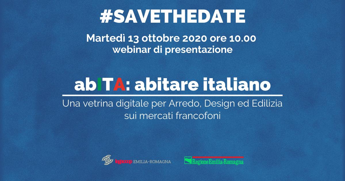 """Una vetrina digitale per Arredo, Design ed Edilizia. Il 13 ottobre presentazione progetto """"abITA: abitare italiano"""""""