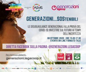 Generazioni Legacoop presenta: le disuguaglianze generazionali alla prova del Covid-19, investire sul futuro ai tempi dell'incertezza