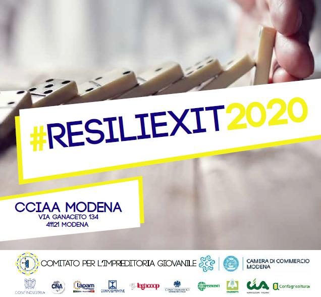 """Comitato Giovani Imprenditori CCIAA Modena: secondo modulo gratuito """"Resiliexit 2020"""""""