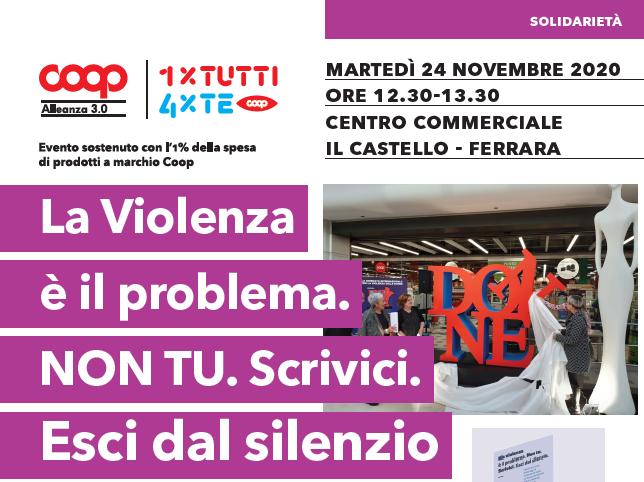 Coop Alleanza 3.0, le iniziative a Ferrara per il 25 novembre