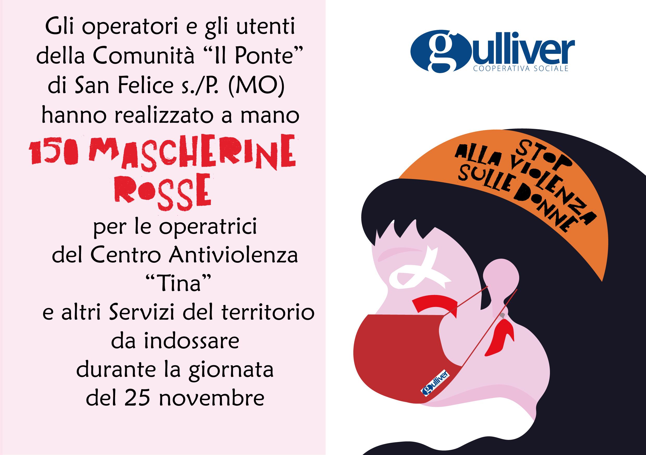 Non solo il 25 novembre, non solo un simbolo!  Gulliver contro la Violenza sulle Donne