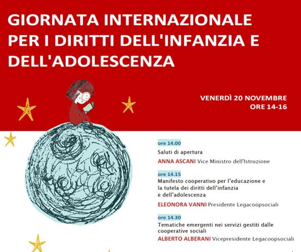 Legacoopsociali celebra la Giornata Internazionale per i diritti dell'infanzia e dell'adolescenza, il 20 novembre