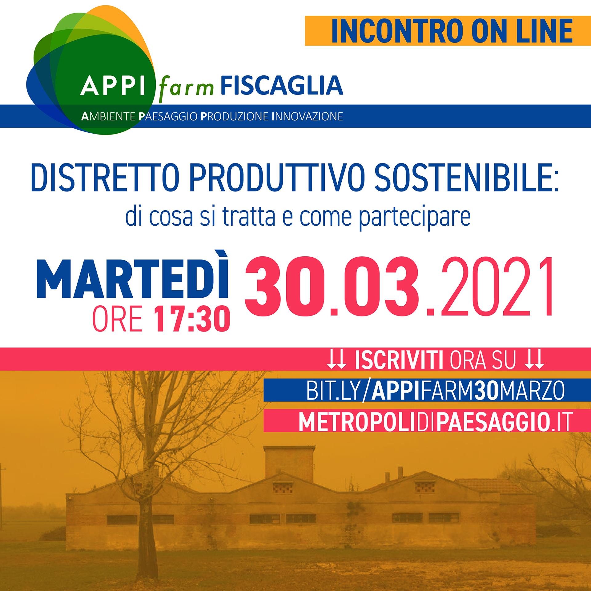 A.P.P.I. Farm Fiscaglia: il 30 marzo la presentazione del progetto sul distretto produttivo sostenibile