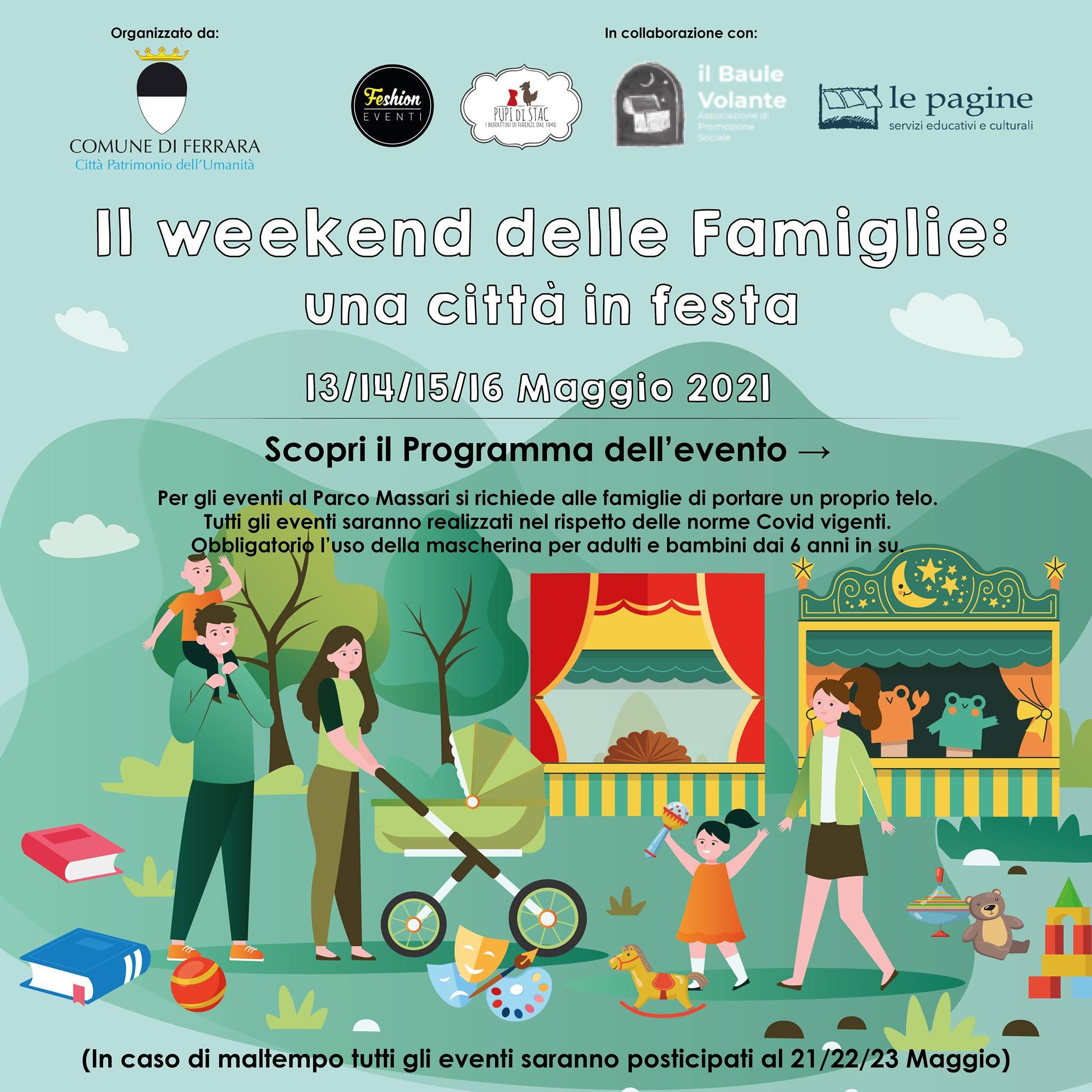 'Il weekend delle famiglie: una città in festa': dal 13 al 16 maggio l'iniziativa coordinata dalla coop sociale Le Pagine