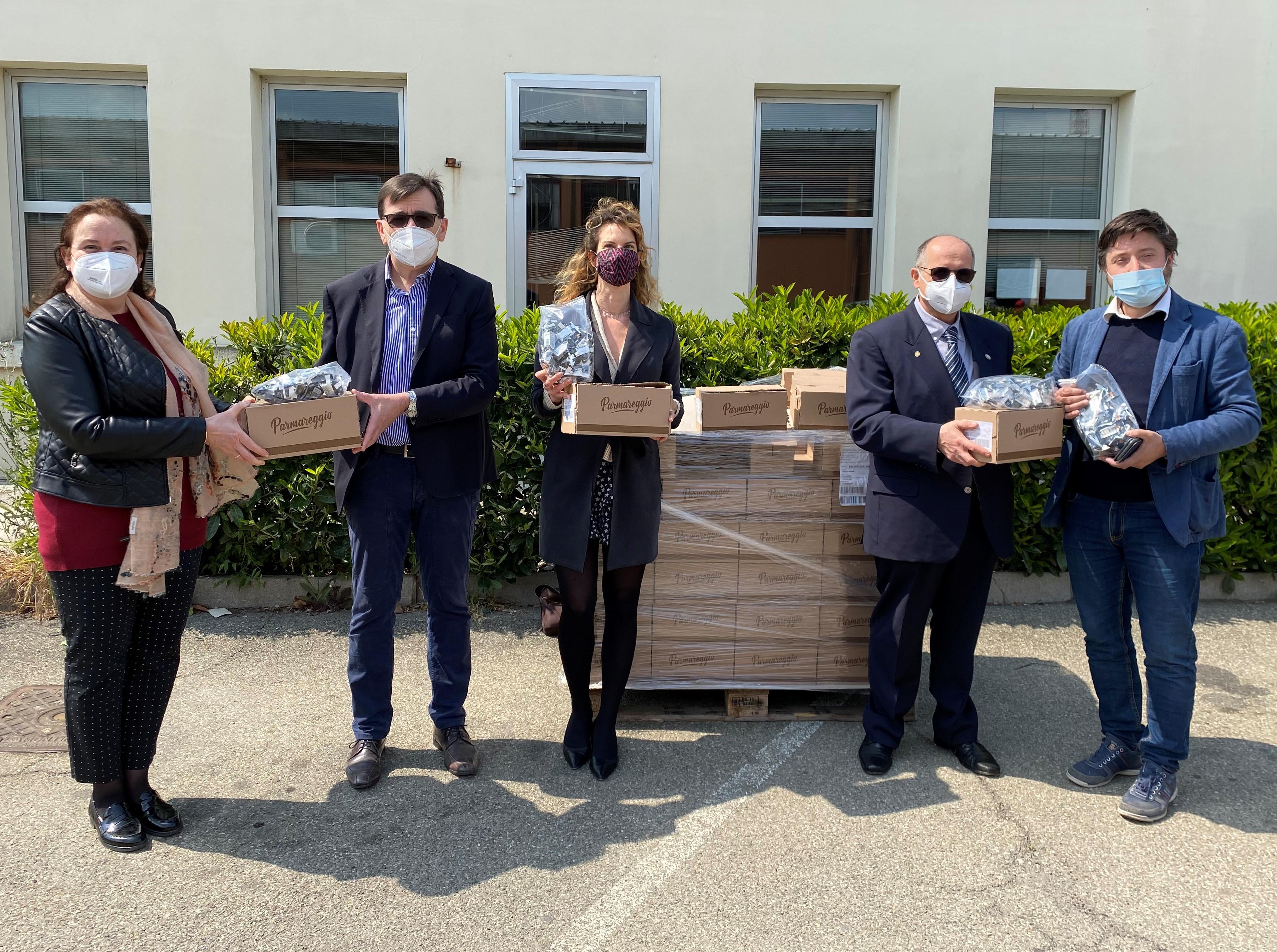 Covid19: nuova donazione dal Consorzio del Formaggio Parmigiano Reggiano, in collaborazione con Legacoop Agroalimentare