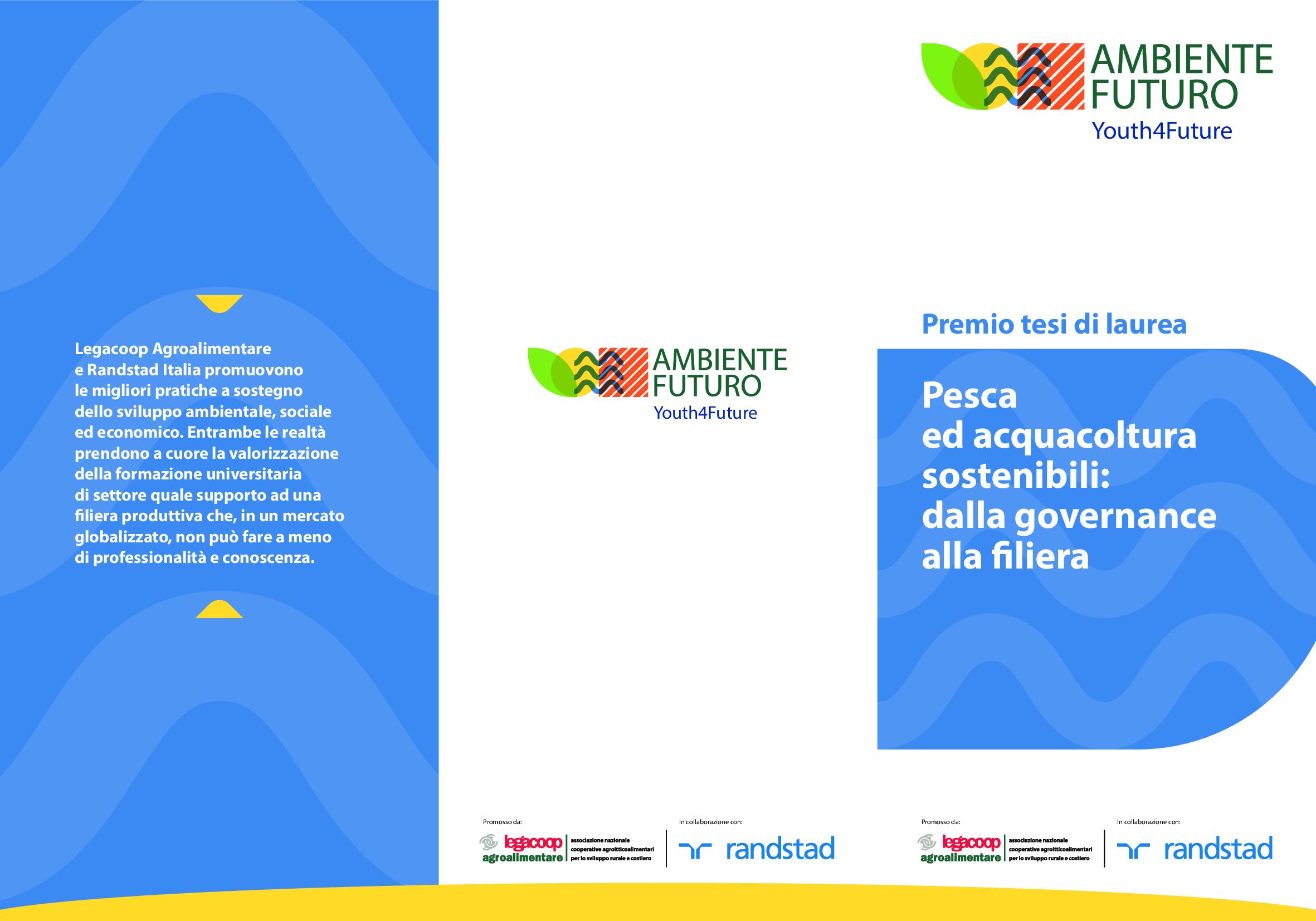 Premio tesi di laurea. Pesca ed acquacoltura sostenibili: dalla governance alla filiera
