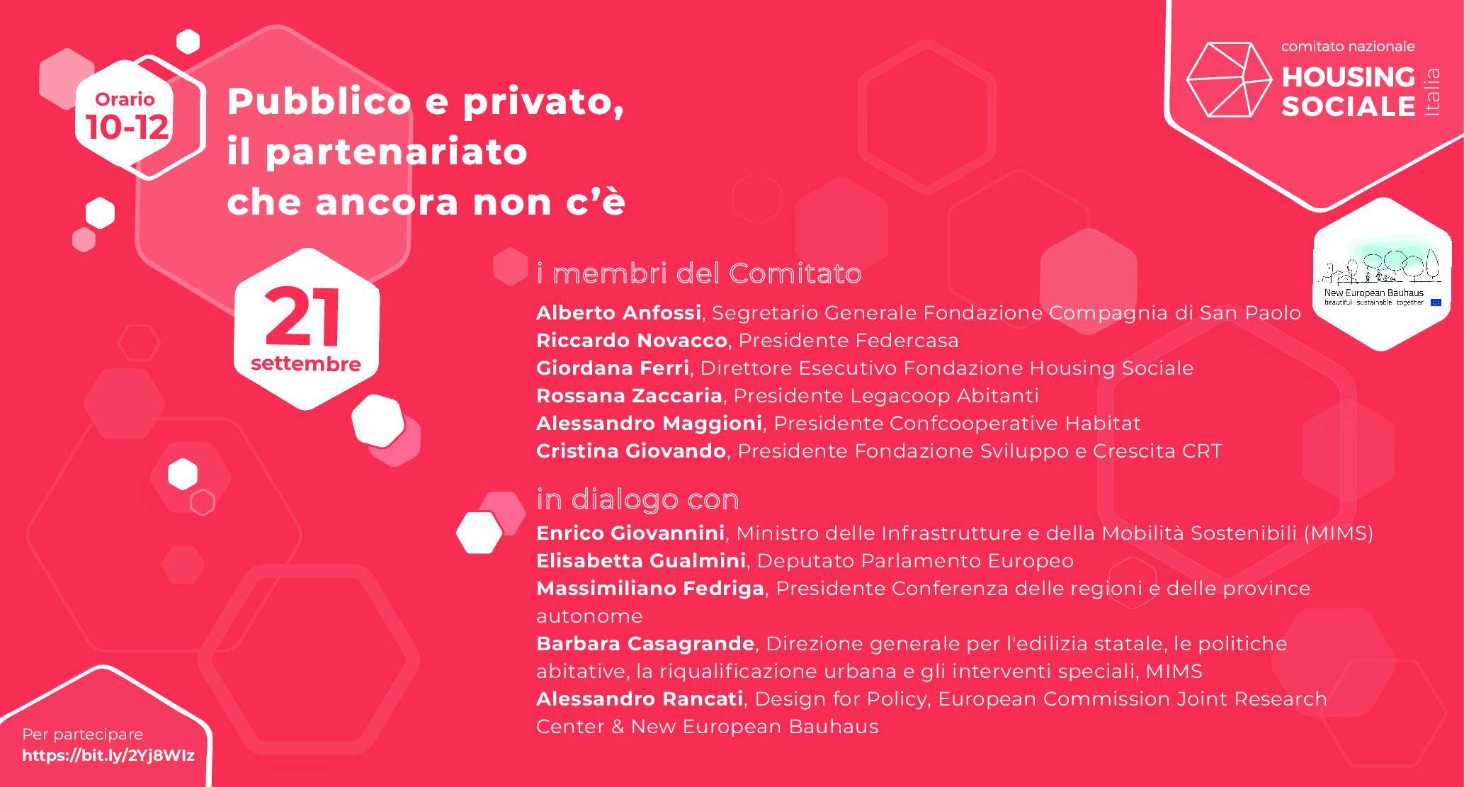 Partenariati diffusi e servizi di comunità,  quale futuro per l'abitare in Italia?