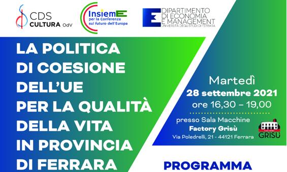La politica di coesione dell'UE per la qualità della vita in provincia di Ferrara