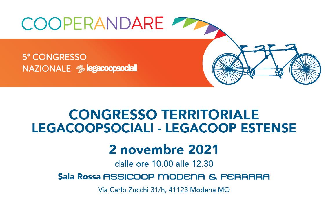5° Congresso nazionale Legacoopsociali: il 2 novembre l'assemblea territoriale di Legacoop Estense